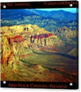 Red Rock Canyon Poster Print Acrylic Print