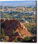 Red Rock Canyon Rock Quarry And Colorado Springs Acrylic Print