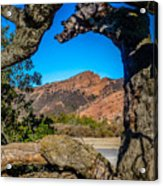 Red Rock Cliffs Acrylic Print