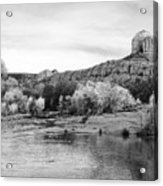 Red Rock Crossing At Cathedral Rock Acrylic Print