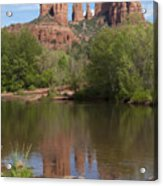 Red Rock Crossing In Sedona Acrylic Print by Sandra Bronstein
