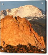 Red Rock Acrylic Print by Eric Glaser