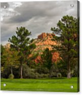 Red Rock Fairway Acrylic Print