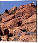 Red Rock Texture Acrylic Print