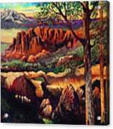 Red Rock Uplift Acrylic Print