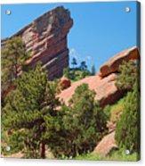 Red Rocks Landscape Acrylic Print