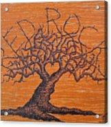 Red Rocks Love Tree Acrylic Print
