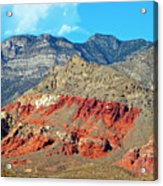 Red Rocks Nevada Acrylic Print