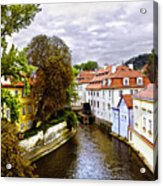 Red Roofs Of Prague - 2015 Acrylic Print