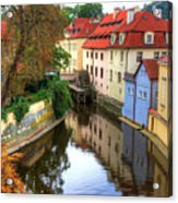 Red Roofs Of Prague Acrylic Print