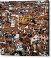Red Roofs Of Venice Acrylic Print