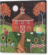Red Round Barn Acrylic Print