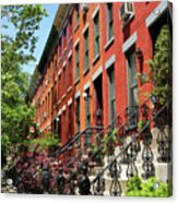 Red Row Houses Acrylic Print