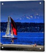 Red Sail Acrylic Print