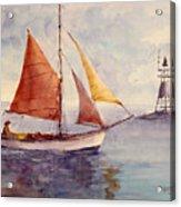 Red Sail... Acrylic Print