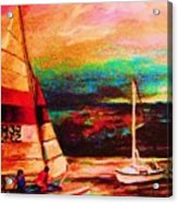 Red Sails In The Sunset Acrylic Print