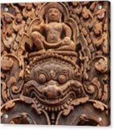 Red Sandstone Kala - Cambodia Acrylic Print