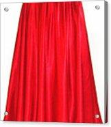 Red Satin Mid-calf Skirt. Ameynra Simple Line 2013 Acrylic Print