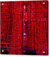 Red Scaffold Acrylic Print