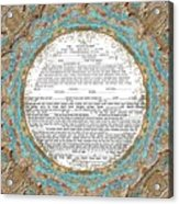 Red See Ketubah Acrylic Print