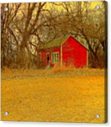 Red Shack Acrylic Print