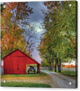 Red Shaker Carriage Barn Acrylic Print