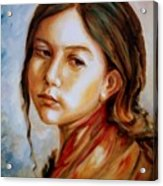 Red Shawl Acrylic Print