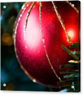 Red Shiny Ornament Acrylic Print