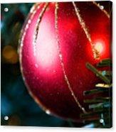 Red Shiny Ornament Acrylic Print