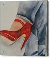 Red Shoes Acrylic Print