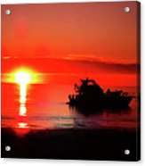 Red Silhouette Acrylic Print