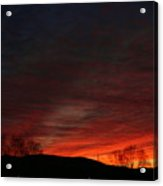 Red Skies At Night Acrylic Print