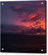 Red Skies At Night Hawaii Acrylic Print