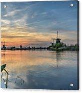 Red Skies Over Kinderdijk Acrylic Print