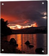 Red Skies Over Loch Rannoch Acrylic Print