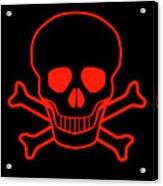 Red Skull And Crossbones Acrylic Print