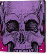 Purple Skull Acrylic Print