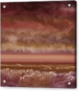 Red Sky At Night Sailor Delight Acrylic Print