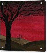 Red Sky - Dark Hills Acrylic Print