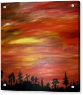 Red Sky Delight Acrylic Print