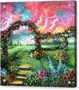 Red Sky Garden Acrylic Print