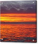 Red Sky In Morning, Sailor's Warning Acrylic Print
