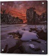 Red Sky, King Rock  Acrylic Print