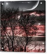 Red Sky Moon Acrylic Print