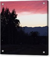 Red Sky Over The Andies Acrylic Print