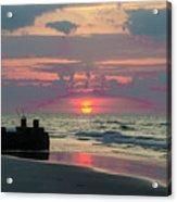 Red Sky Sun Rise Acrylic Print
