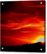 Red Skys Tonight Acrylic Print