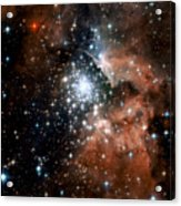Red Smoke Star Cluster Acrylic Print