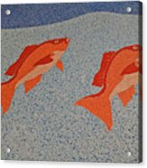 Red Snapper Inlay On Alabama Welcome Center Floor Acrylic Print