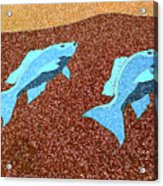 Red Snapper Inlay Sunny Day Invert Acrylic Print